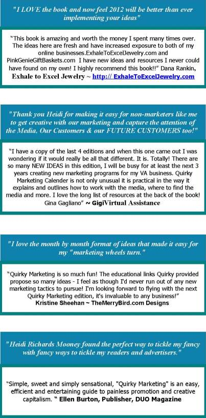 """Quirky Marketing Calendar Testimonials New"""